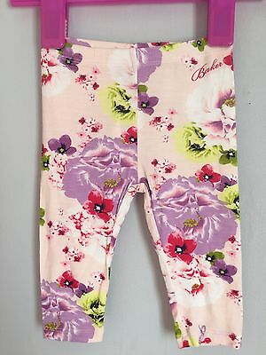 New Without Tags Baby Girls Designer Ted Baker Floral Leggings 3-6m 🌸