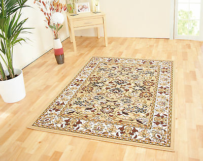 Small - Extra Large Beige Traditional Classic Patterned Cheap Budget Rugs Sale