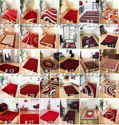 New Small Medium Extra Large Soft Quality Bright Dark Red Rugs (Cheap Mats Sale)