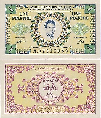 French Indo China,1 Piastre Banknote (1953) Extra Fine Condition Cat#93-3085