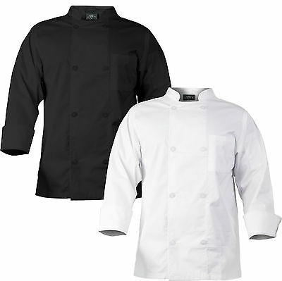 CHEF CODE Chef Coat with 8 Pearl Buttons, Double Breasted Front CC118