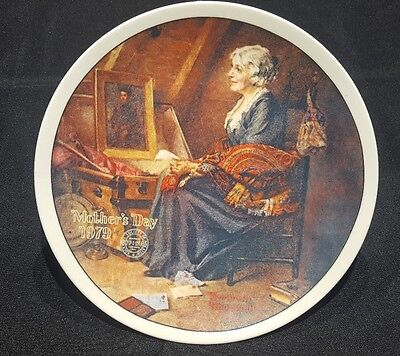 """Edwin Knowles """"Mothers Day Reflections"""" Norman Rockwell Collector Plate 1979"""