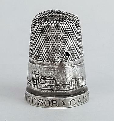 Victorian STERLING SILVER Thimble WINDSOR CASTLE c1840