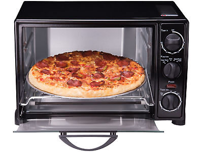 Rosewill RHTO 13001 1500 W 6 Slice Black Toaster Oven Broiler With Drip Pan