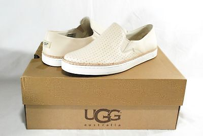 1a30b388676 UGG KEILE PERF Pearl White Leather Perforated Sneakers, Flats, Womens 9, Nib