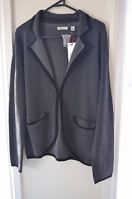 BNWT Ripe Maternity Soft Knit Jacket Size M Charcoal and Black