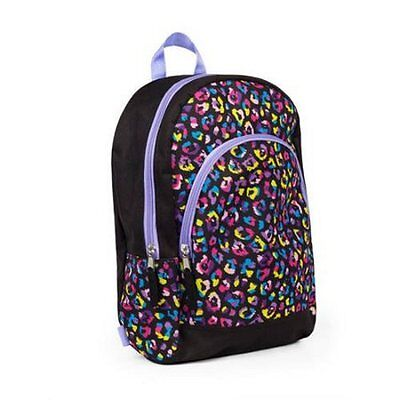"15"" Kids Leopard Print Backpack Pre School Toddler Book Bag Tote Preschool"