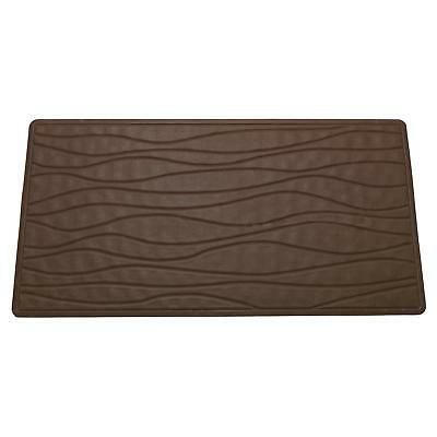 Carnation Home Small (13'' x 20'') Slip-Resistant Rubber Bath Tub Mat in Brown