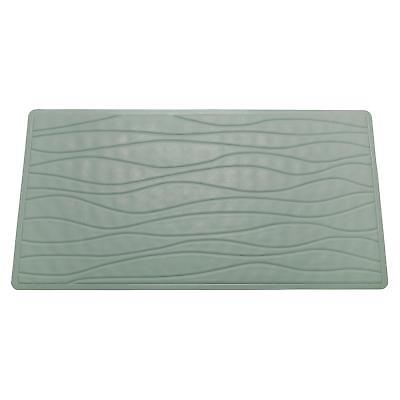 Carnation Home Small (13'' x 20'') Slip-Resistant Rubber Bath Tub Mat in Sage