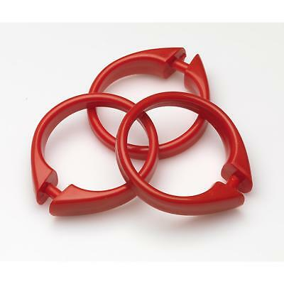 """Carnation Home """"Snap"""" Plastic Shower Curtain Hooks in Red"""