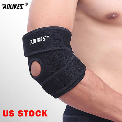Elbow Brace Support Arm Band Pads Wraparound Compression Tennis Guard Elastic