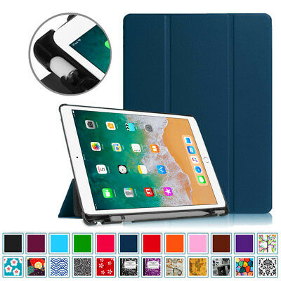 For iPad Pro 10.5 Case with Built-in Apple Pencil Holder Smart Slimshell Cover