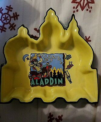 Aladdin Las Vegas Ashtray - yellow, black and green
