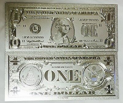 Beautiful .999 Silver $$$ US Banknote $1 One Dollar Bill.. + Sleeve Included