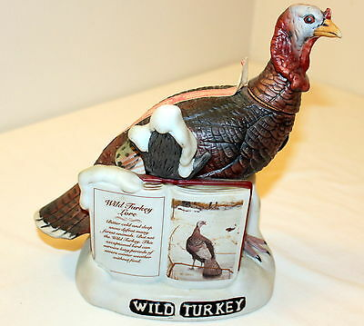 1980 Wild Turkey Bisque Porcelain Lore Limited Series II Decanter #2 MINT in Box