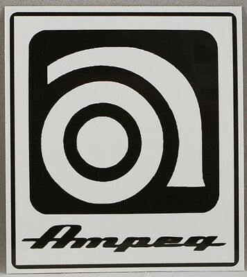 AMPEG sticker. amplifier, guitar amp, music, musicians, instruments, car decal