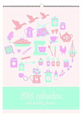 2018 Debden Home and Family Calendar Month to View Wiro CALHWD-18 NEW 290x410 mm