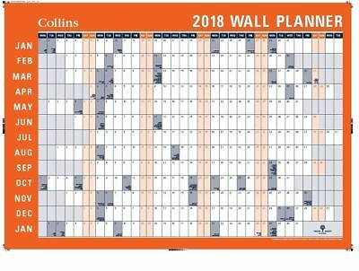 Collins 2018 Wall Planner Laminated (Rollup) 2 Layouts 700x990 mm WP900D-18