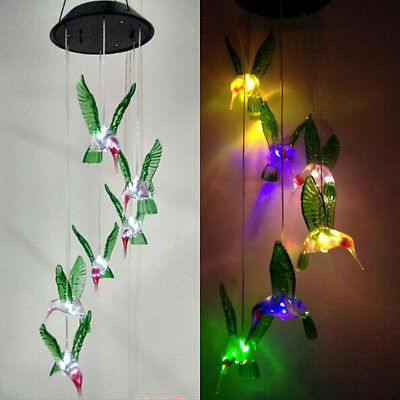 Solar Lamp Color Changing LED Wind Chimes Light Outdoor Hanging Home Decor