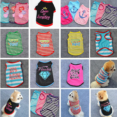 Small Pet Dog Clothes Shirt Vest Puppy Summer Apparel Costume Sleeveless Tops