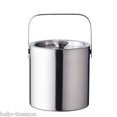 1300ML Wine Cooler Stainless Steel Double-Layer Ice Wine Bucket Portable
