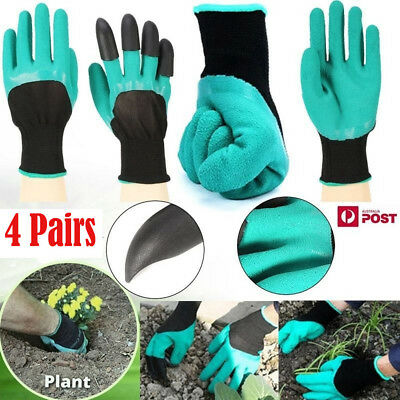 8 Pair new Gardening Gloves for garden Digging Planting with 4 ABS Plastic Claws