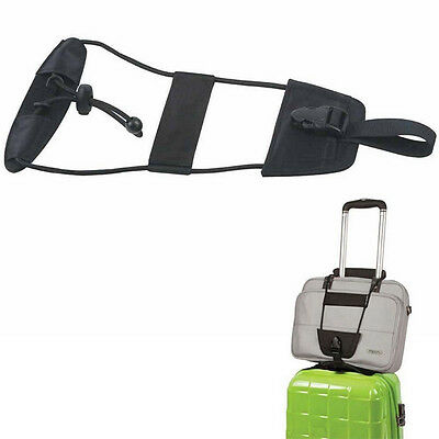 1 Pc Luggage Bag Attachment Travel Backpack Suitcase Adjustable Strap Add A Bag