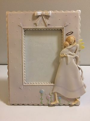 """Porcelain Photo Frame- Angel Holding Baby, By """"From Above"""""""