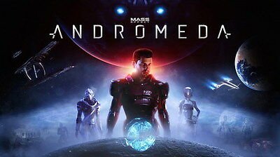 "070 Mass Effect 4 - Andromeda ME Fighting Shooting Game 24""x14"" Poster"