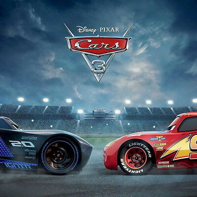 "010 Cars 3 - Pixar Lightning McQueen 2017 Cartoon Movie 14""x14"" Poster"