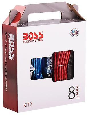 Boss Audio KIT2 8 Gauge Amplifier Installation Kit with High Performance RCA...
