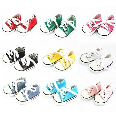 18inch Dolls Canvas Lace Up Sneakers Shoes for American Girl Doll Accessory