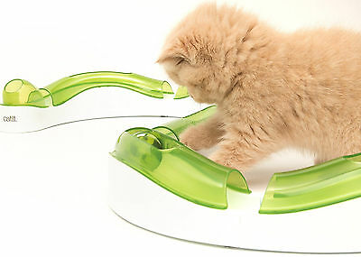 Circuit Super Senses Roller Design Catit Cat Toy Ball Kitten Play Track Chase