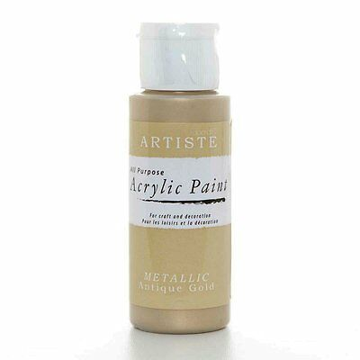 Acrylic Paint Metallic Antique Gold All Purpose  DOA 763104