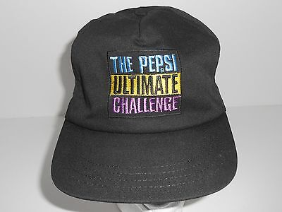 Vintage The Pepsi Ultimate Challenge Black Pepsi Snapback Cap Hat