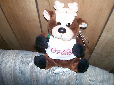 Coca Cola Reindeer In Shirt Bean Bag, Never Been Played With