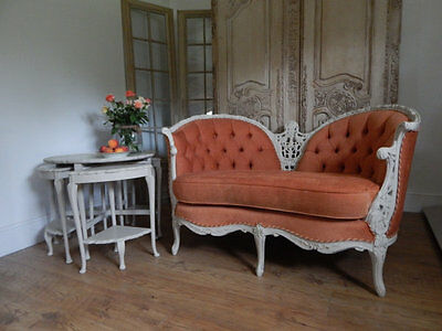 Vintage French love seat sofa