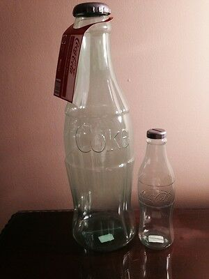 Coca Cola Bottle Banks (2) Huge 23 Inch And A 11 Inch Mini NEW $2.99 Shipping
