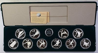 Royal Canadian Mint 1988 Winter Olympics $20 Sterling Silver Proof 10 Coin Set