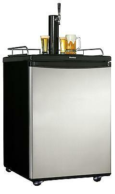 Danby Beer-Meister 5.8 CF Kegerator Full Keg Beer Fridge Dispenser DKC5811BSL