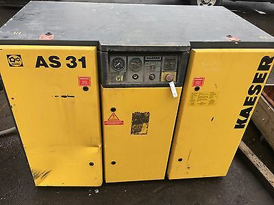Kaeser AS 31 Rotary Screw Air Compressor 100CFM 145PSIG 3PH 25HP 1800RPM