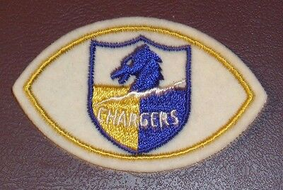 Vintage San Diego Chargers Nfl Logo Football Shaped Sew On Patch