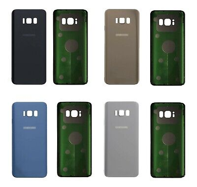 New Samsung Galaxy S8 & S8 + Plus Rear Glass Back Battery Cover With Adhesive