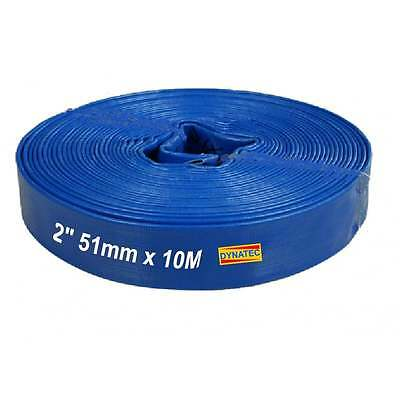 "2 "" Inch Layflat Discharge Water Pump Hose 50mm X 10 M Metre Drainage WR/H110X10"