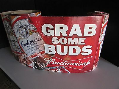 "NEW 30' Budweiser ""Grab Some Bud"" Decorative Roll Banner Bar Bud Light Beer Brew"