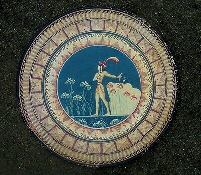 "replica Greek pottery wall charger plate "" The Prince "" of lillies Knossos"