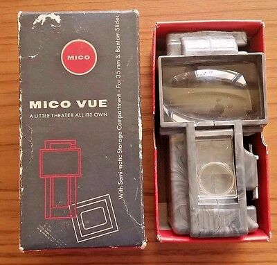 Mico Vu 35mm slide viewer Grey Swirl Plastic with box -Vintage