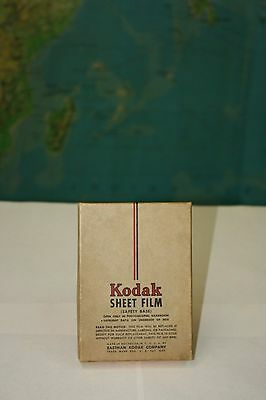 RARE WW2 ERA - Kodak PANATOMIC-X SHEET FILM - Expired in 1945 - NEW OLD STOCK