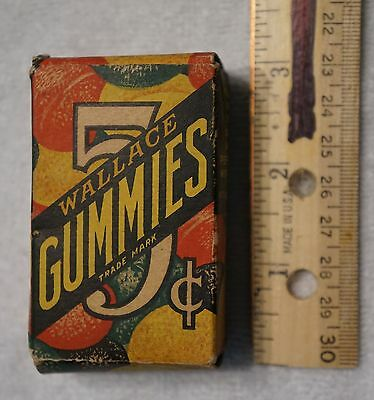 Old Wallace Gummies candies candy box from the 1930's/40's