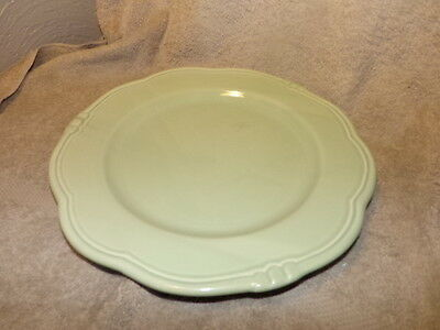 """Set of 2 11 1/4"""" inches Green Dinner Plate Made in Portugal"""